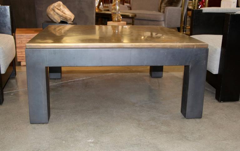 Copper Topped Iron Base Coffee Table At 1stdibs