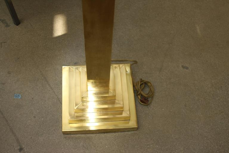 Sonneman Brass Tall Floor Lamp Or Torchiere For Sale At