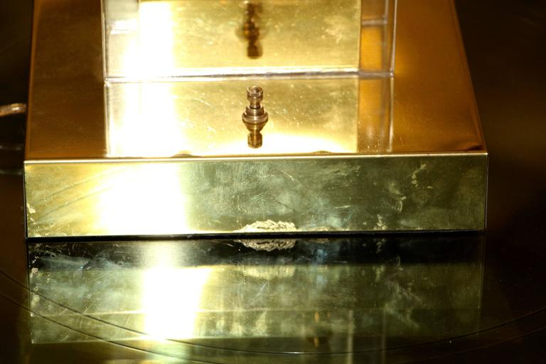 Vintage Nova Of California Lucite And Brass Mail Box Lamp