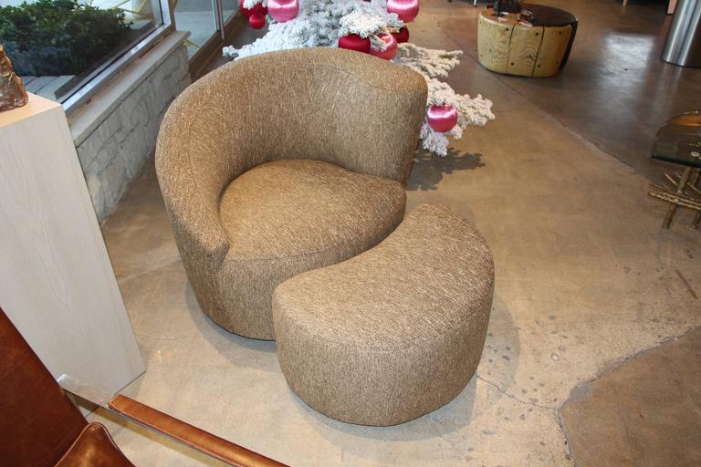 Vladimir Kagan Nautilus Chair And Ottoman 2