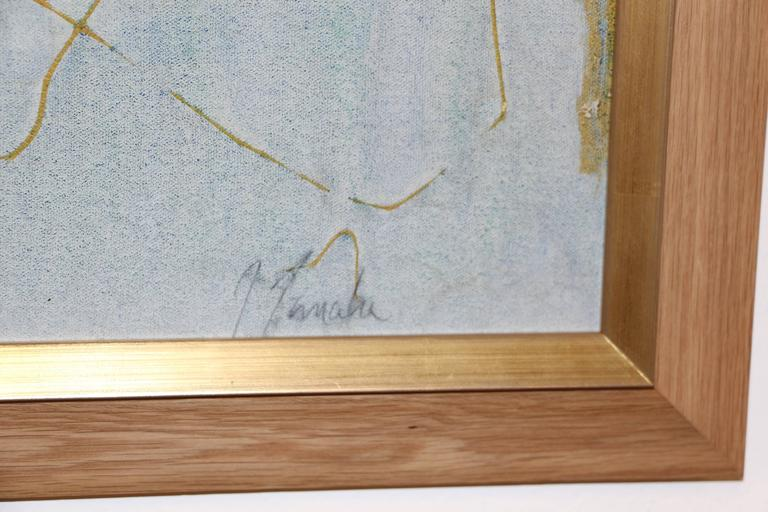 Great Abstract on Canvas, signed illegibly (Tanaka?) For Sale 1