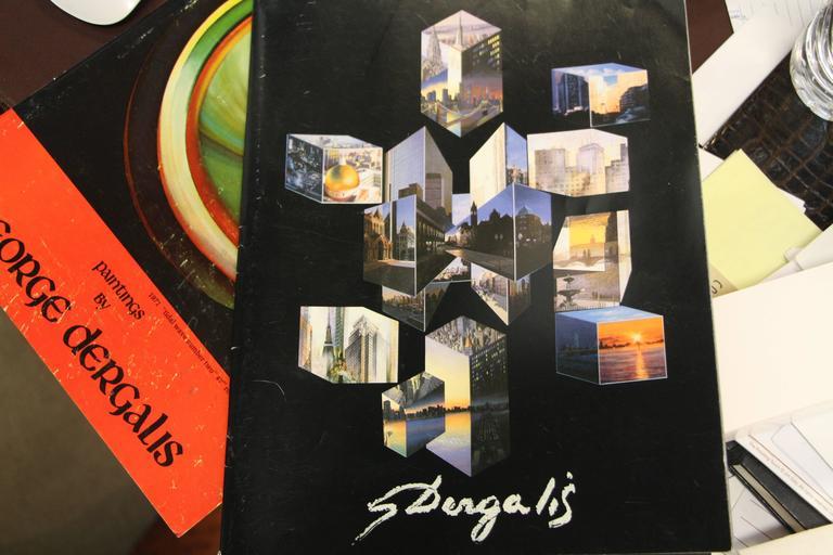 George Dergalis 1998 Mixed-Media on Acid Free Board Newly Framed 8