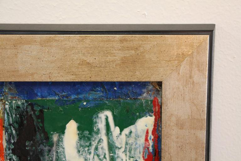 George Dergalis 1998 Mixed-Media on Acid Free Board Newly Framed In Good Condition For Sale In Palm Springs, CA