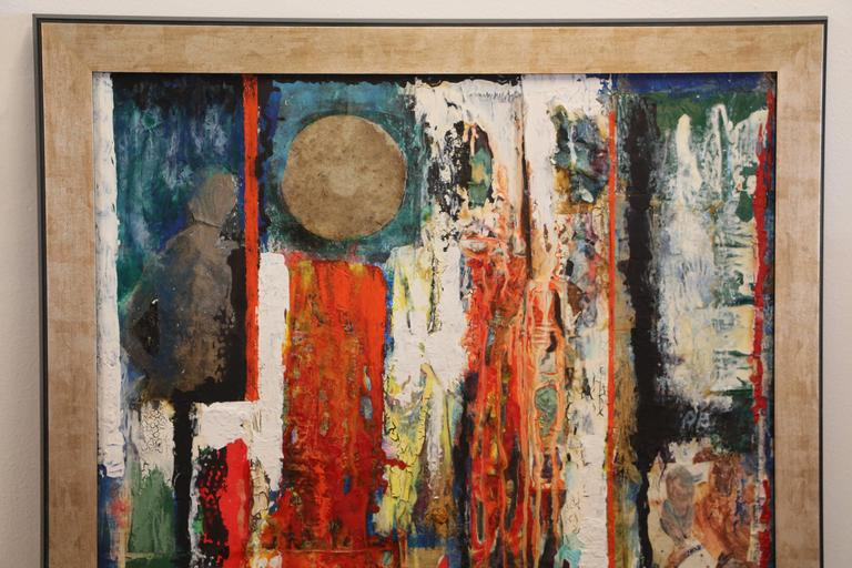 George Dergalis 1998 Mixed-Media on Acid Free Board Newly Framed For Sale 1