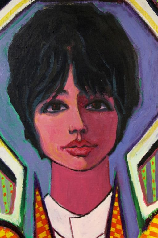 Fabulous Pop Art Painting by George Dergalis Dated 1966 2