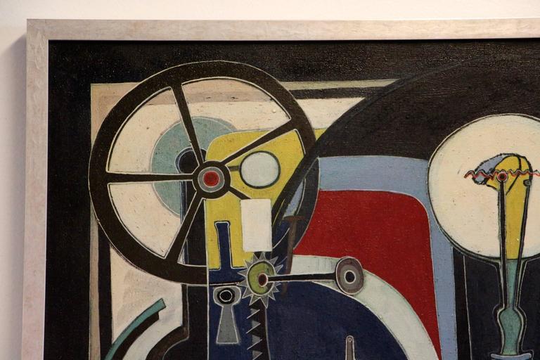 Mid-20th Century George Dergalis 1964 Painting For Sale