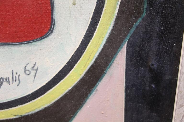 George Dergalis 1964 Painting For Sale 3