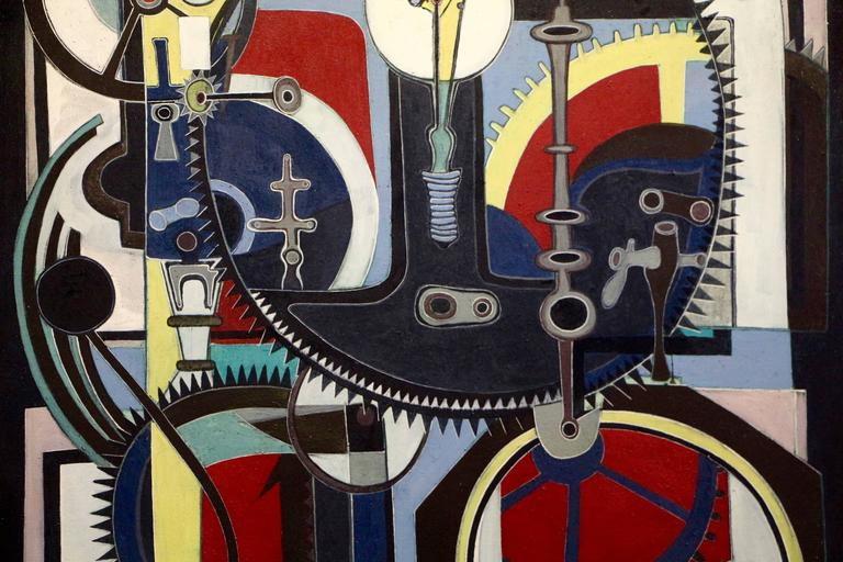 American George Dergalis 1964 Painting For Sale