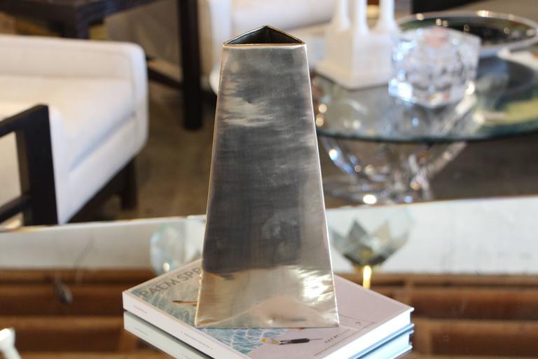 20th Century James Johnston Brass Vase For Sale
