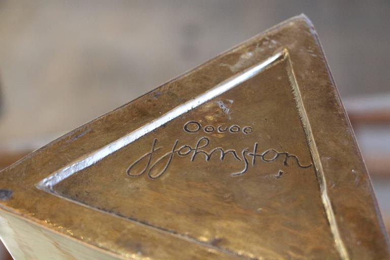 James Johnston Brass Vase For Sale 2