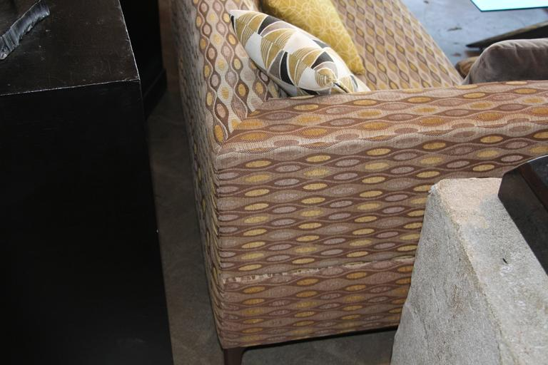 Nice Sectional Sofa in a Nice Fabric For Sale 1