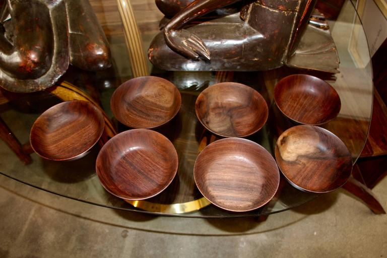 American Seven Bob Stocksdale Black Walnut Hand-Turned Bowls For Sale