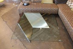 Brueton J. Wade Beam Cantilevered Brushed Stainless Steel Coffee Table