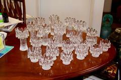Collection of 23 Kosta Boda Sunflower Votive Candleholders
