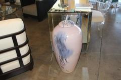 Impressive Lidded Floor Vase by Noted Artist Mark Hines