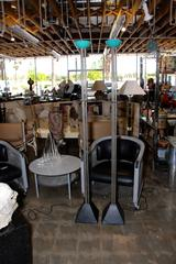 Nice Pair of Ron Rezek Floor Lamps Labeled and in Working Condition