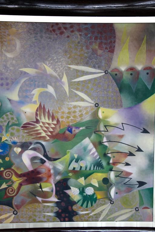 Hand-Crafted Leonel Maciel Whimsical Painting For Sale