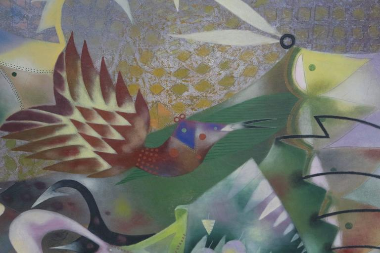 Mexican Leonel Maciel Whimsical Painting For Sale
