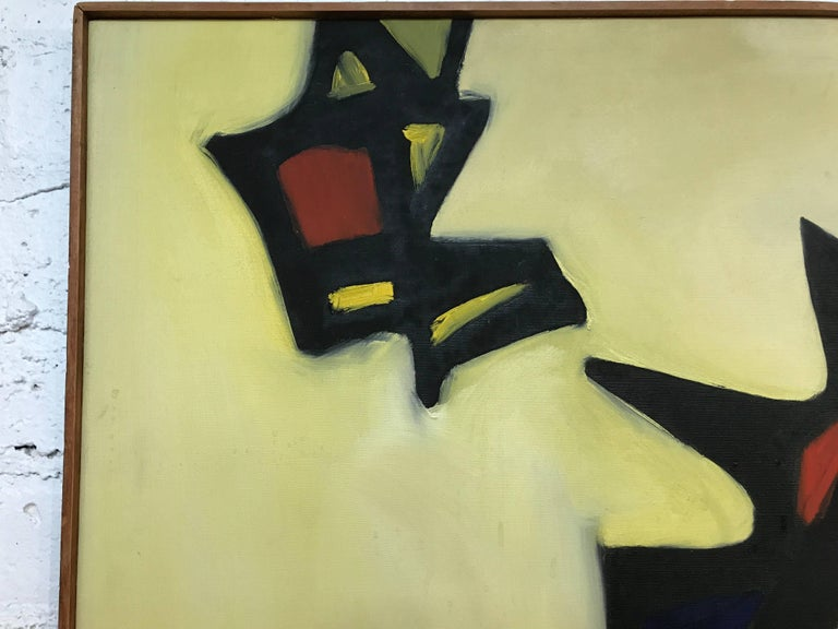 Nice Abstract Painting by the Noted Artist Arnold Weber In Good Condition For Sale In Palm Springs, CA