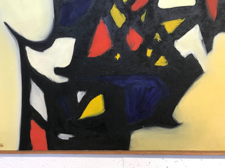 Mid-20th Century Nice Abstract Painting by the Noted Artist Arnold Weber For Sale