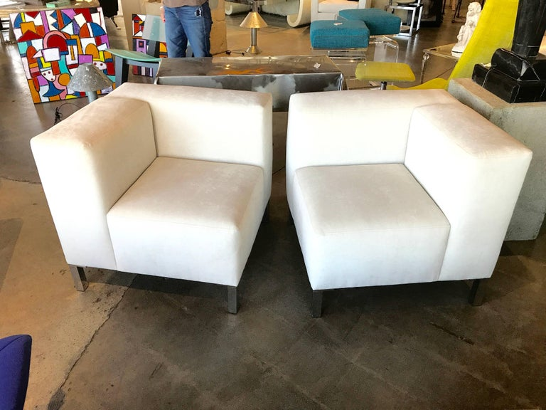 Pair of Chairs That Combine to Form a Loveseat 2