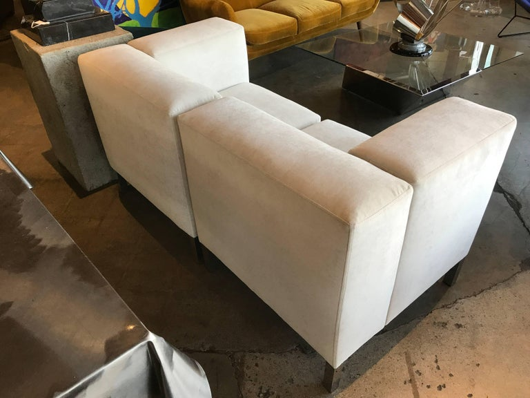 Pair of Chairs That Combine to Form a Loveseat 6