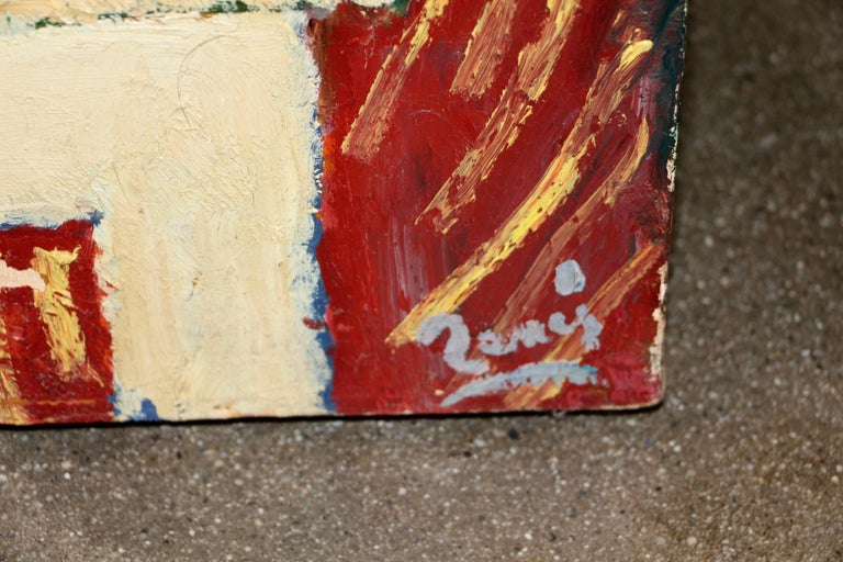 Older Interesting Painting Signed Illegibly in the Style of Matisse In Good Condition For Sale In Palm Springs, CA