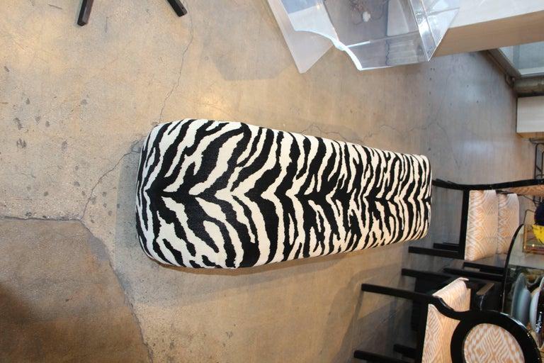 20th Century Faux Zebra Bench from Barbara Marx Sinatra Estate For Sale