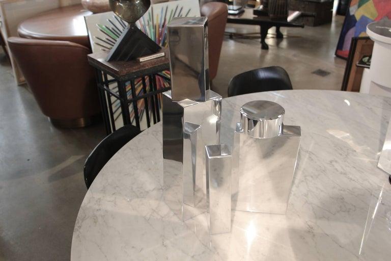 American Geometric Aluminum Sculpture by California Artist Casey Cross For Sale
