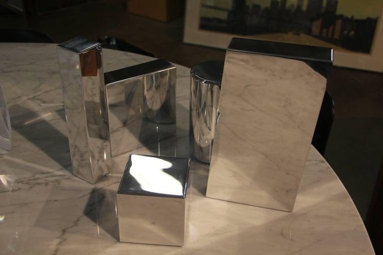 Contemporary Geometric Aluminium Sculpture by California Artist Casey Cross For Sale