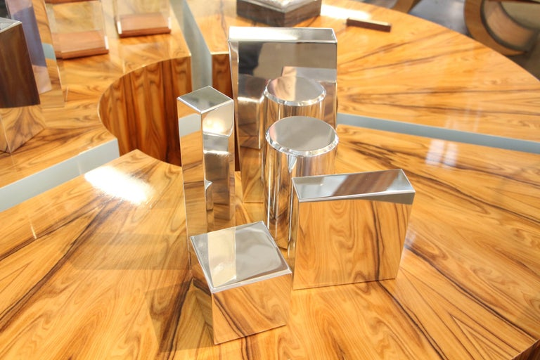 American Geometric Aluminium Sculpture by California Artist Casey Cross For Sale