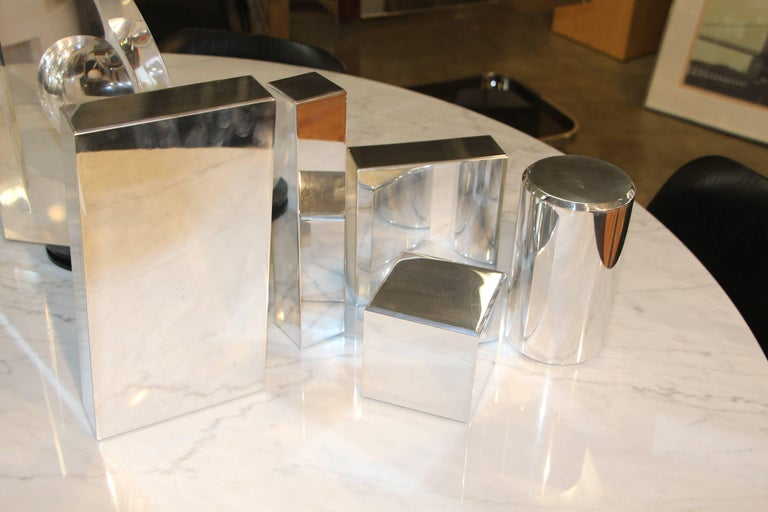 Geometric Aluminium Sculpture by California Artist Casey Cross In Good Condition For Sale In Palm Springs, CA