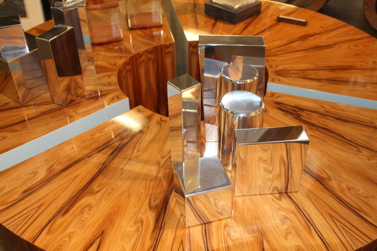 Hand-Crafted Geometric Aluminium Sculpture by California Artist Casey Cross For Sale