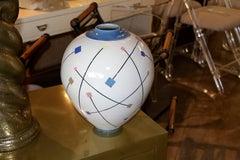 Postmodern Memphis Style Ceramic Pot