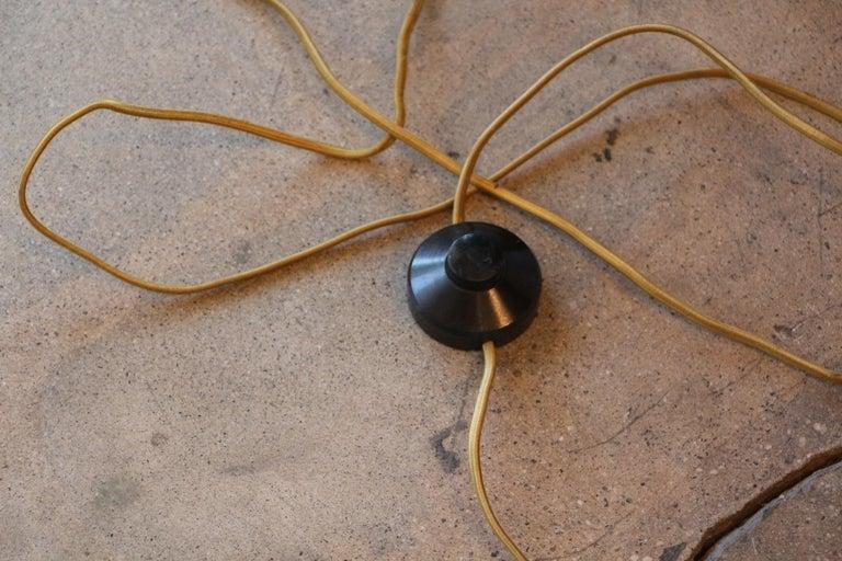 Stilnovo Brass Candelabra Floor Lamps with Marble Bases For Sale 3