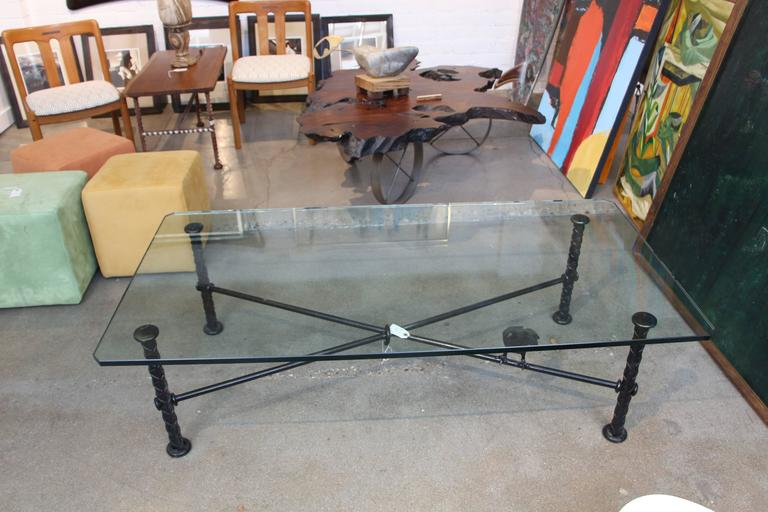 Ilana Goor Coffee Table with Bronze Bird For Sale 5