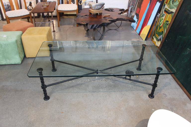Ilana Goor Coffee Table with Bronze Bird For Sale 4