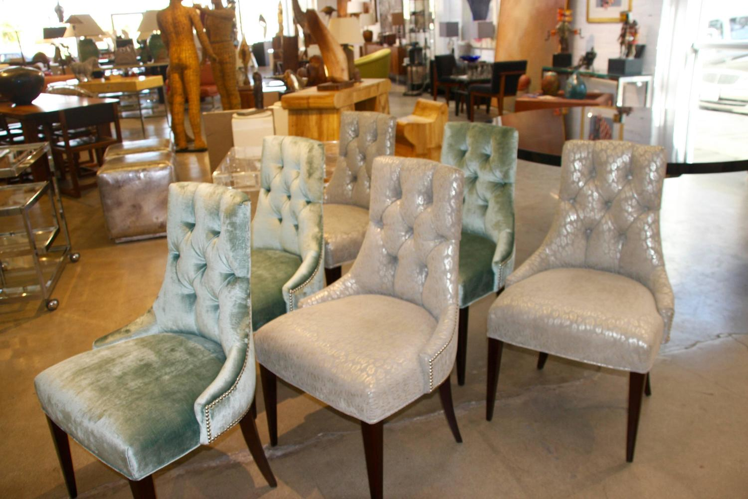 Set of Six Ritz Chairs Designed by Thomas Pheasant for ...