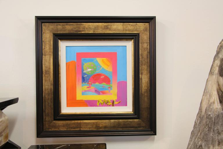 Peter Max Mixed-Media on Canvas