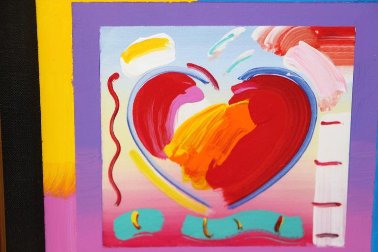 """Peter Max """"Heart on Blends"""" 2006 Mixed Media with Acrylic 2"""