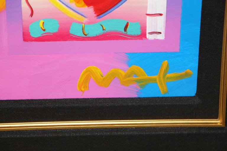 """Peter Max """"Heart on Blends"""" 2006 Mixed Media with Acrylic 5"""