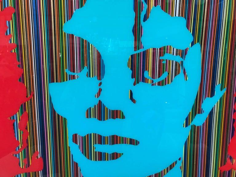 "Mauro Oliveira Michael Jackson Collage ""Super Pop"" Original Work of Art 7"