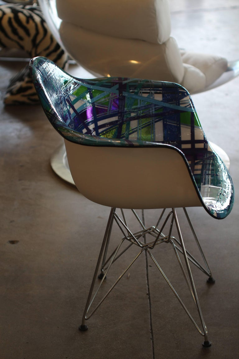 Mauro Oliveira Decorated Chair Titled