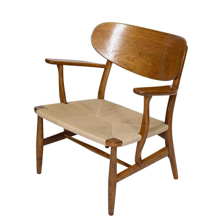Danish Hans Wegner CH-22 Lounge Chair For Sale