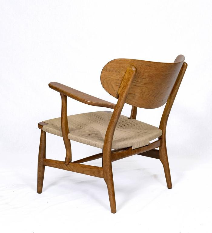 Mid-20th Century Hans Wegner CH-22 Lounge Chair For Sale