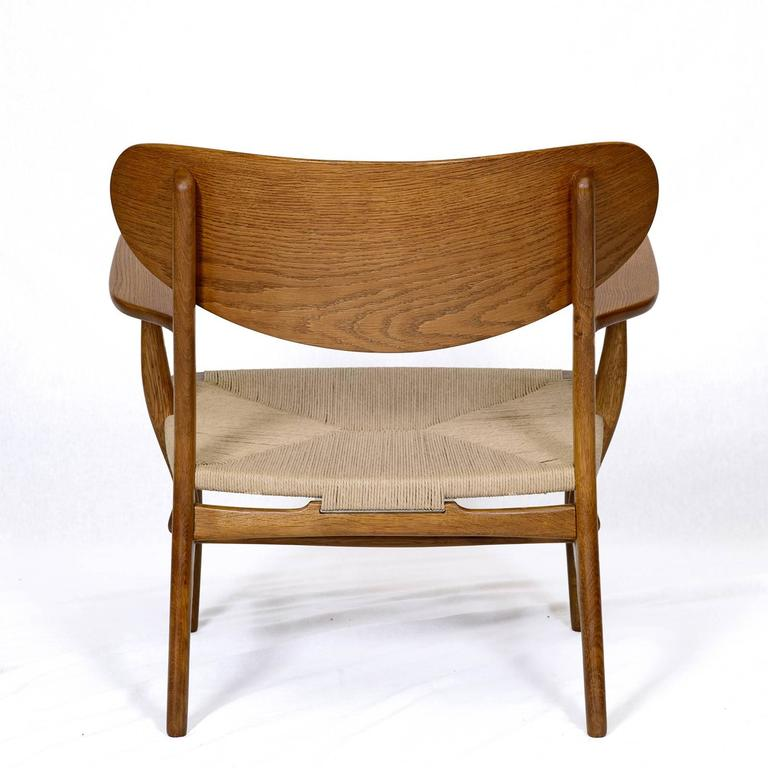 Hans Wegner CH-22 Lounge Chair For Sale 1