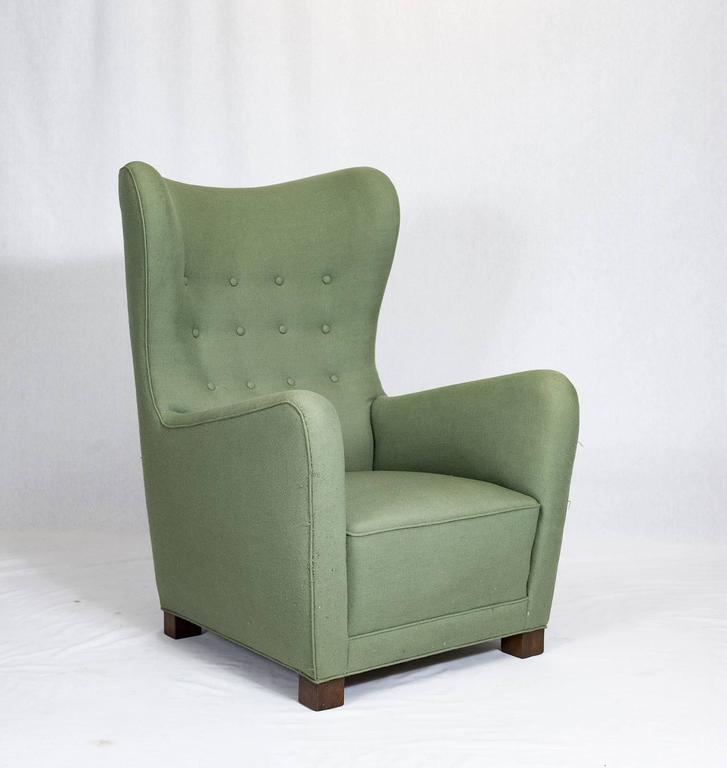 Fritz Hansen high back lounge chair model no.1672.     Store formerly known as ARTFUL DODGER INC