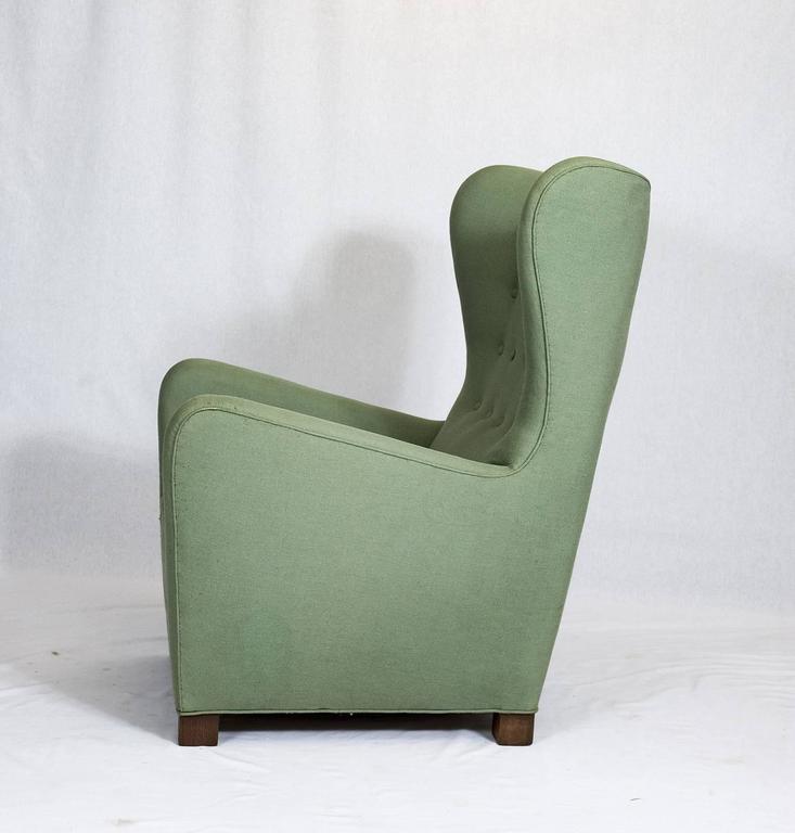 Danish Fritz Hansen High Back Lounge Chair For Sale