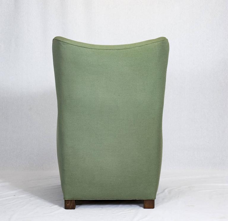 Mid-20th Century Fritz Hansen High Back Lounge Chair For Sale