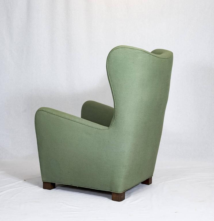 Fritz Hansen High Back Lounge Chair In Good Condition For Sale In Los Angeles, CA